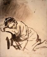 Rembrandt-Zeichnung Hendrijke