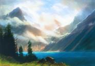 Gemälde von Albert Bierstadt, bearbeitet mit Photoshop
